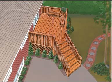 Deck construction how to build a deck deck plans part 2 for Deck designer free