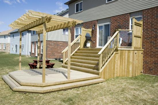 Deck construction how to build a deck deck plans part 2 for Deck building ideas plans