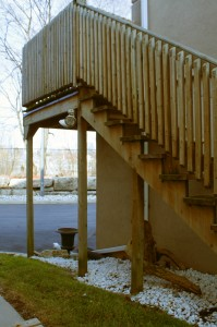 Tall Deck Stairs